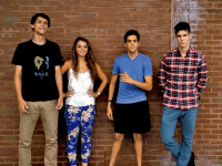 COURTESY SAM RICCIARDI   From left to right, Angelo Angelino (SFS '17), Adriana Kranjac (COL '17), President Sam Ricciardi (COL '17), and Justin Kotwicki (COL '17) share their love for dance music.