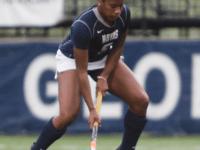 JULIA HENNRIKUS/THE HOYA Sophomore forward Aliyah Graves-Brown had four goals Sunday.