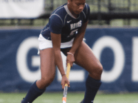 JULIA HENNRIKUS/THE HOYA Sophomore forward Aliyah Graves-Brown had four goals Sunday.