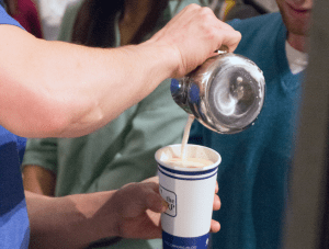 DANIEL SMITH/THE HOYA Students of Georgetown, Inc. will serve a new brand of coffee with entirely new brewing equipment from Compass Coffee starting today.