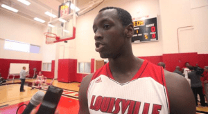 COURIER JOURNAL In December, Louisville power forward Akoy Agau announced his transfer to Georgetown. Agau averaged 0.9 points and 1.1 rebounds for the Cardinals during his freshman year, in which he averaged five minutes per game.