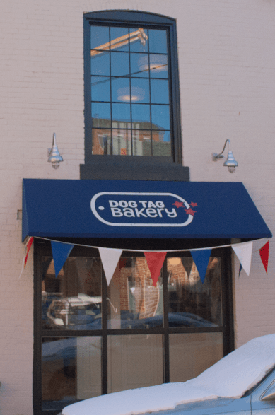 ISABEL BINAMIRA/THE HOYA Dog Tag Bakery helps veterans earn a certificate in Business Administration.