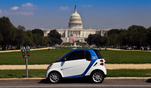 COURTESY DAIMLER COMPANY Car2Go provides Smart cars to members, who may drive them around the D.C. area and drop them off in a different location. Over 300 university community members have already signed up for the program.