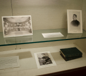 DAN GANNON/THE HOYA A new Lauinger LIbrary exhibit on the third floor honors Jesuit heritage at Georgetown and will be open until the end of February.
