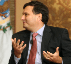 "FILE PHOTO: DANIEL SMITH/THE HOYA Adjunct professor Ron Klain, pictured in Gaston Hall in November 2013, ended his term as ""Ebola czar"" on Feb. 13. He will return to Georgetown."