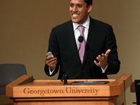 NATE MOULTON/THE HOYA  Former USAID Administrator Rajiv Shah, who is now part of the SFS faculty,  gave a lecture Monday as part of the Global Futures Initiative.