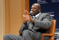 KATHLEEN GUAN FOR THE HOYA NBA champion Shaquille O'Neal discussed his personal brand and his commitment to philanthropy as part of GAMBLE's Diversity Dialogue Conference on Friday.