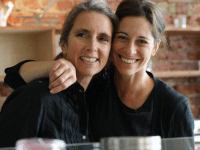COURTESY BETTINA STERN Suzanna Simon and Bettina Stern have become popular farmer's market vendors. The two plan to open up a vegetarian restaurant this summer.