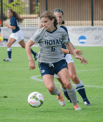 FILE PHOTO: DAN GANNON/THE HOYA Senior midfielder Daphne Corboz is the Hoyas' all-time leading scorer.