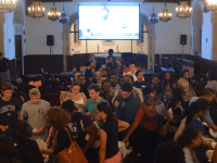 DAN GANNON/THE HOYA More than 60 students participated Sunday in the first round of the Well Talks, a monthly discussion series hosted by the Protestant Chaplaincy. The first talk focused on the topic of #BlackLivesMatter and race issues specifically pertaining to Georgetown.