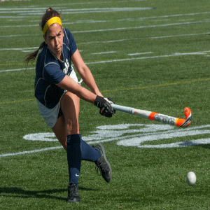 FILE PHOTO: ISABEL BINAMIRA/THE HOYA Sophomore forward Megan Parson scored the Hoyas' only goal in their 1-0 win over Lehigh. Parsons scored three goals for Georgetown last season.