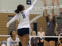 Volleyball | Freshmen King, Sinnette Lead Hoyas Offense