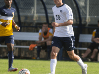 FILE PHOTO: NAAZ MODAN/THE HOYA Junior midfielder Bakie Goodman scored the equalizer in Georgetown's 2-1 comeback victory over Big East rival Villanova. The goal is Goodman's second in his team's 16 games this season.