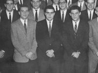 YE DOOMESDAY BOOKE 1957 Justice Scalia (CAS '57), who died Saturday, was highly involved in Georgetown groups, here pictured, center, with the Who's Who club.