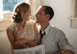 """SONY PICTURE CLASSICS Elizabeth Olsen and Tom Hiddleston play Audrey Sheppard Williams and Hank Williams in """"I Saw the Light,"""" a biopic of Williams' life and career as a musician."""
