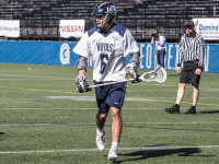 DANIEL KREYTAK/THE HOYA Freshman attack Chris Donovan scored two goals in Georgetown's 9-8 loss to Marquette last weekend. Donovan has scored eight goals and has notched one assist so far this season.