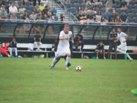 FILE PHOTO: JENNA CHEN/the hoya Senior forward and co-captain Brett Campbell recorded two shots on goal in Saturday's loss to DePaul. He is the team leader in goals, with three this season. Campbell has started in all twelve games for the Hoyas.