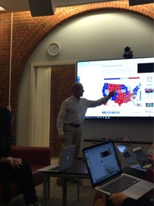 (Aly Pachter/The Hoya) Mark Rom speaking about the distribution of votes.