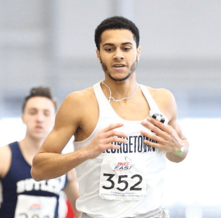 Junior Joe White broke the school record in the 800-meter, finishing with a time of  1:46.44 last weekend at the Iowa State Classic. (COURTESY GUHOYAS)