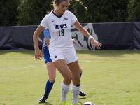 CARORLINE PAPPAS FOR THE HOYA Junior forward Caitlin Farrell notched an assist in Georgetown's win over Villanova.