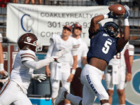 GUHOYAS Sophomore wide receiver Michael Dereus hauled in four catches for 83 in Georgetown's loss to Fordham on Sunday.