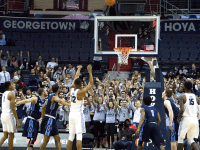 GABRIELLA WAN/THE HOYA Junior forward Kaleb Johnson led the Hoyas Tuesday night with a game-high 18 points, going 5-10 from the field.