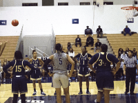 CAROLINE PAPPAS/THE HOYA Junior guard Dionna White, left, leads the team with 17.6 points per game and ranks second with 7.0 rebounds per game. White scored her 1,000th point against FIU on Wednesday.