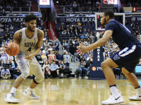 SUBUL MALIK FOR THE HOYA Sophomore Guard Jagan Mosely scored 6 points in Wednesday's loss to Villanova, the program's largest defeat in 43 years.