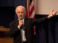 KEENAN SAMWAY FOR THE HOYA Mario Capecchi, a Nobel Laureate in medicine and professor at the University of Utah School of Medicine discussed his research during an event on Wednesday.