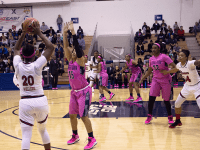 CAROLINE PAPPAS/THE HOYA The Georgetown women's basketball team fell to 7th in the Big East with Sunday's loss to St. John's, marking