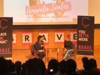MEENA MORAR FOR THE HOYA actress and comedian Amanda Seales discussed her experiences in the creative realm with Soyica Colbert, associate professor of African American Studies and Theater and Performance Studies.