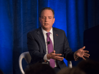 AMBER GILLETTE/THE HOYA Former White House Chief of Staff Reince Priebus defended President Donald Trump's unconventional leadership style in an event Tuesday.