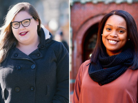 Amanda Scott (C'19), left, and Shakera Vaughan (C'19), both government majors at Georgetown, are among this year's 2018 Harry S. Truman Scholars.