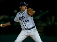 GUHOYAS Sophomore starting pitcher Jeremiah Burke pitched a career-high 7.1 innings in the Hoyas' 5-3 victory over Butler in the final game of a three game series.