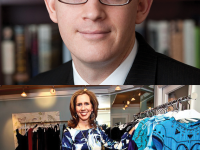 TOP: JESUIT ADVANCEMENT ADMINISTRATORS AND FORDHAM UNIVERSITY; BOTTOM: JULIE FARR LLC Paul Lanzone (MSB '15) and Julia Farr (CAS '88) will join the Georgetown University Alumni Association as associate vice president of alumni engagement and executive director, respectively.