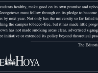 EDITORIAL: Follow Through on Tobacco-Free