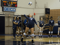 Freshman outside hitter Elissa Barbosa had six digs and an ace against the Blue Demons. Aaron Weinmann