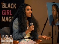 AMBER GILLETTE/THE HOYA | Yandy Smith, criminal justice reform activist and reality TV star, gave the keynote address at the 2019 BRAVE Summit on March 16.