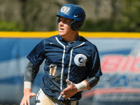 GUHOYAS| Senior infielder Ryan Weisenberg looks to get on base. Weisenberg had one hit in the series against Hartford.