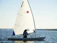 GUHOYAS | The Georgetown coed sailing team earned a record of 6-4 and placed fifth out of eighth of Admiral Moore team race