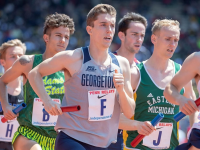 GUHOYAS | Junior Jack Salisbury helped the Hoyas claim another medal after finishing first in the 1500m run at the Sam Howell Invitational on April 6.