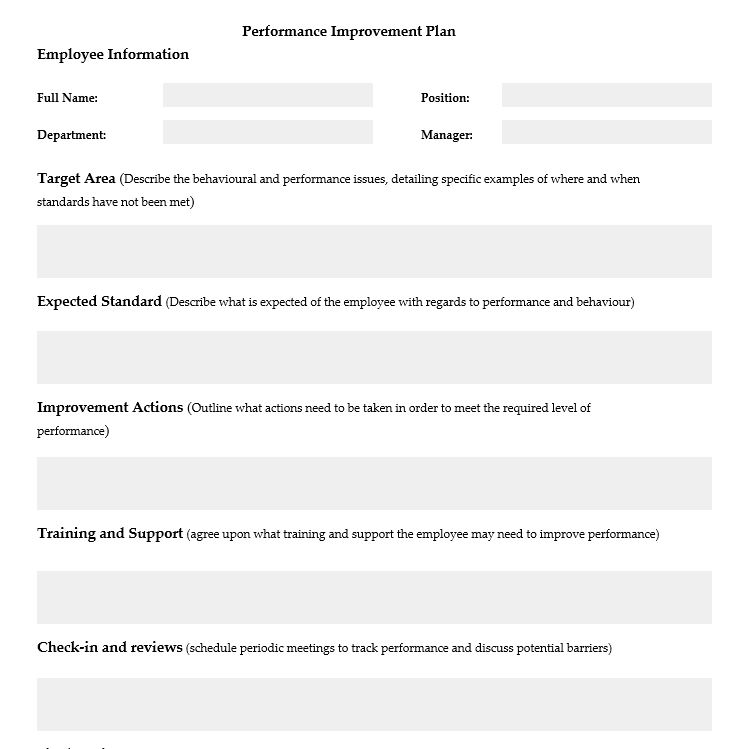 Get a professional template at no cost. How To Develop A Performance Improvement Plan