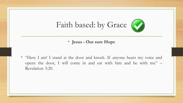 Jesus our sure hope of salvation