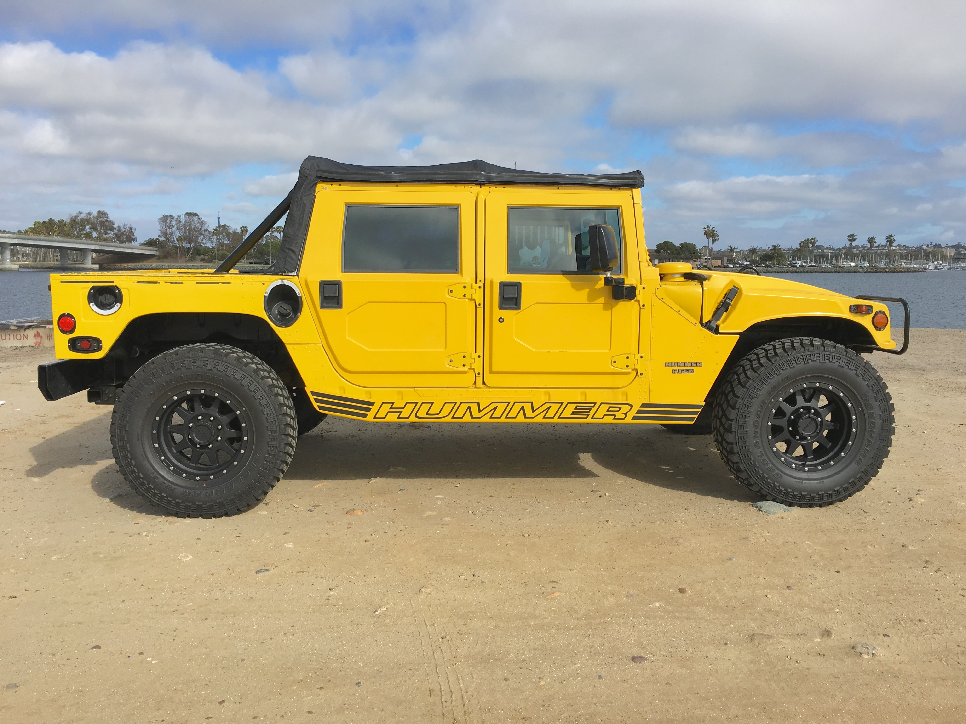 sold…… hummer h1 open top turbo sel