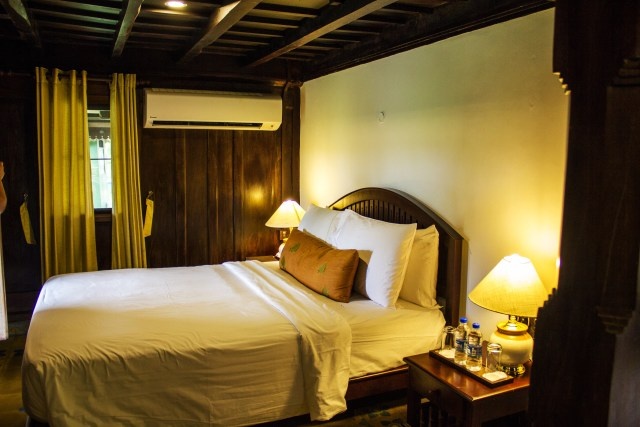 One of the luxuriously appointed rooms