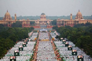 First International Day of Yoga was celebrated on June 21, 2015; Image credit