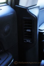 The AC vent and Speaker on the rear door