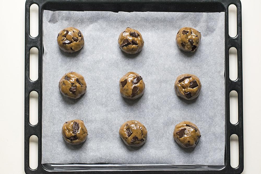 μαλακά μπισκότα σοκολάτας με ταχίνι και ελαιόλαδο 3