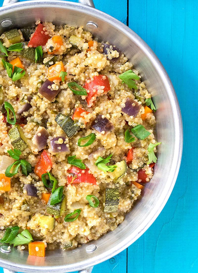 Mediterranean vegetable quinotto 2