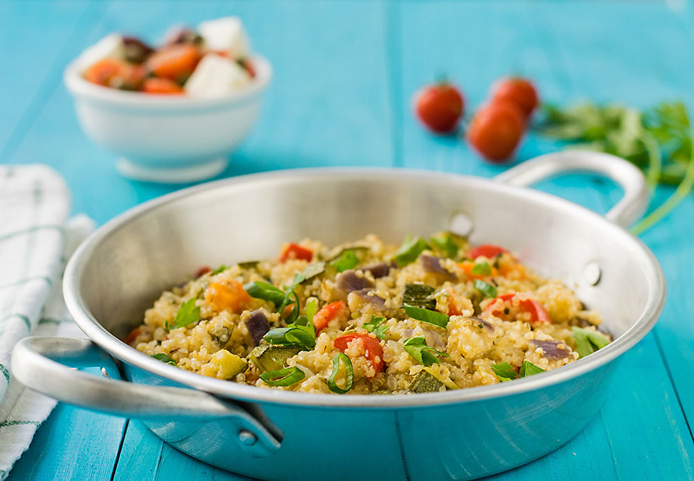 Mediterranean vegetable quinotto 3